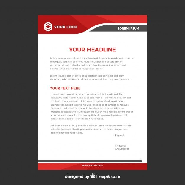 Letterhead template in flat style Free V  Premium Vector