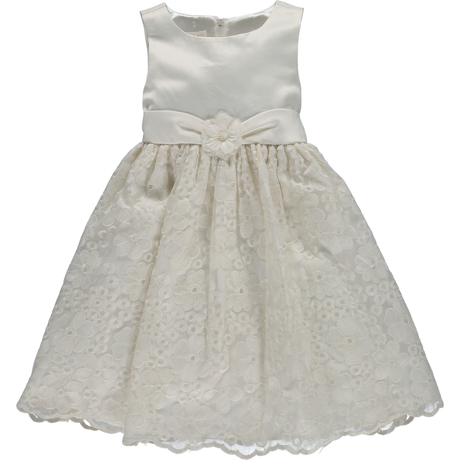 Special Occasion White Floral Lace Dress