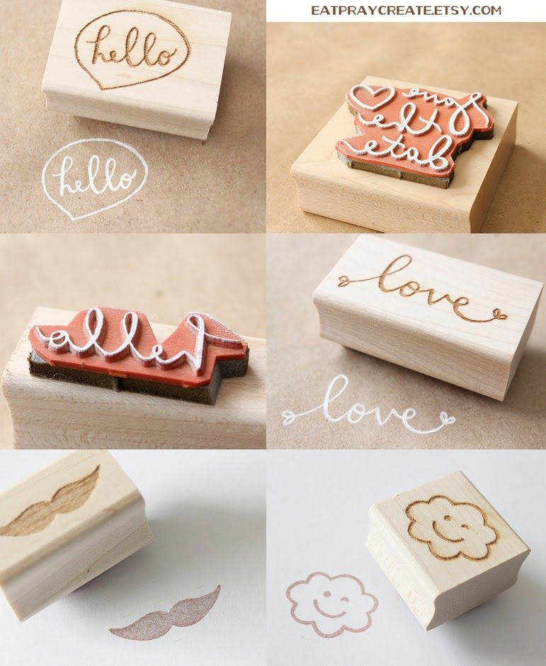 Custom rubber stamps from EatPrayCreate! Love!