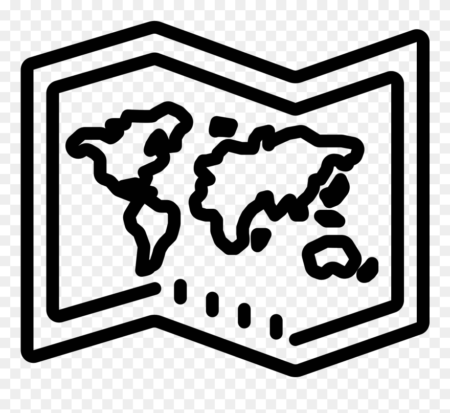 Download Hd World Map Icon Map Broken Line Black Png Clipart And Use The Free Clipart For Your Creative Project Map Icons Free Clip Art Clip Art