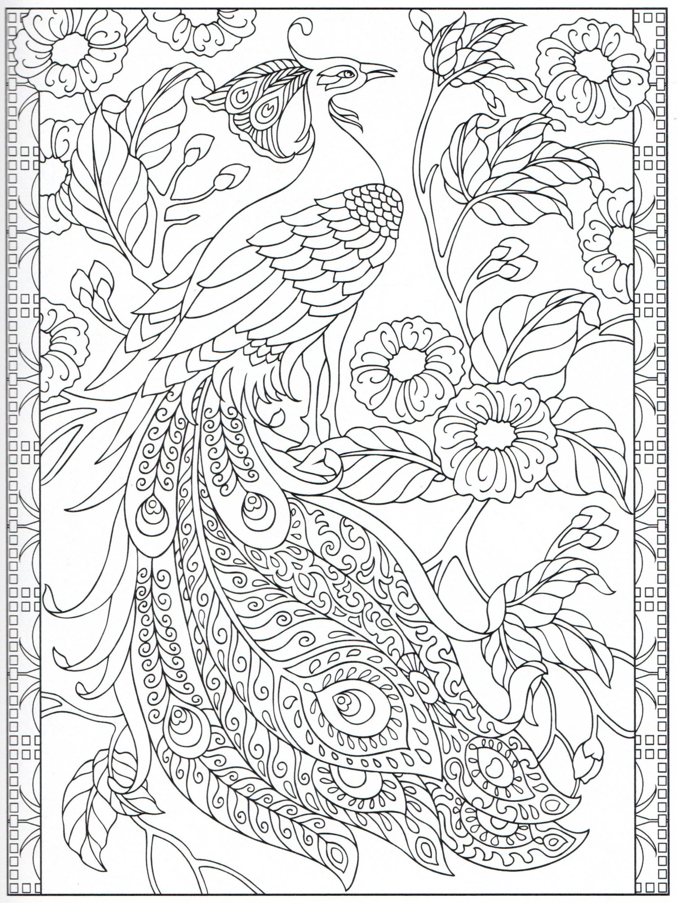 Peacock Coloring Page 24 31 With Images Steampunk Coloring