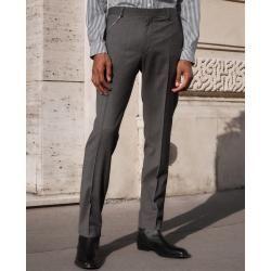 Photo of Die Kooples Slim-Fit Anzughose aus grauer Wolle mit Motiv – Damenthekooples.com