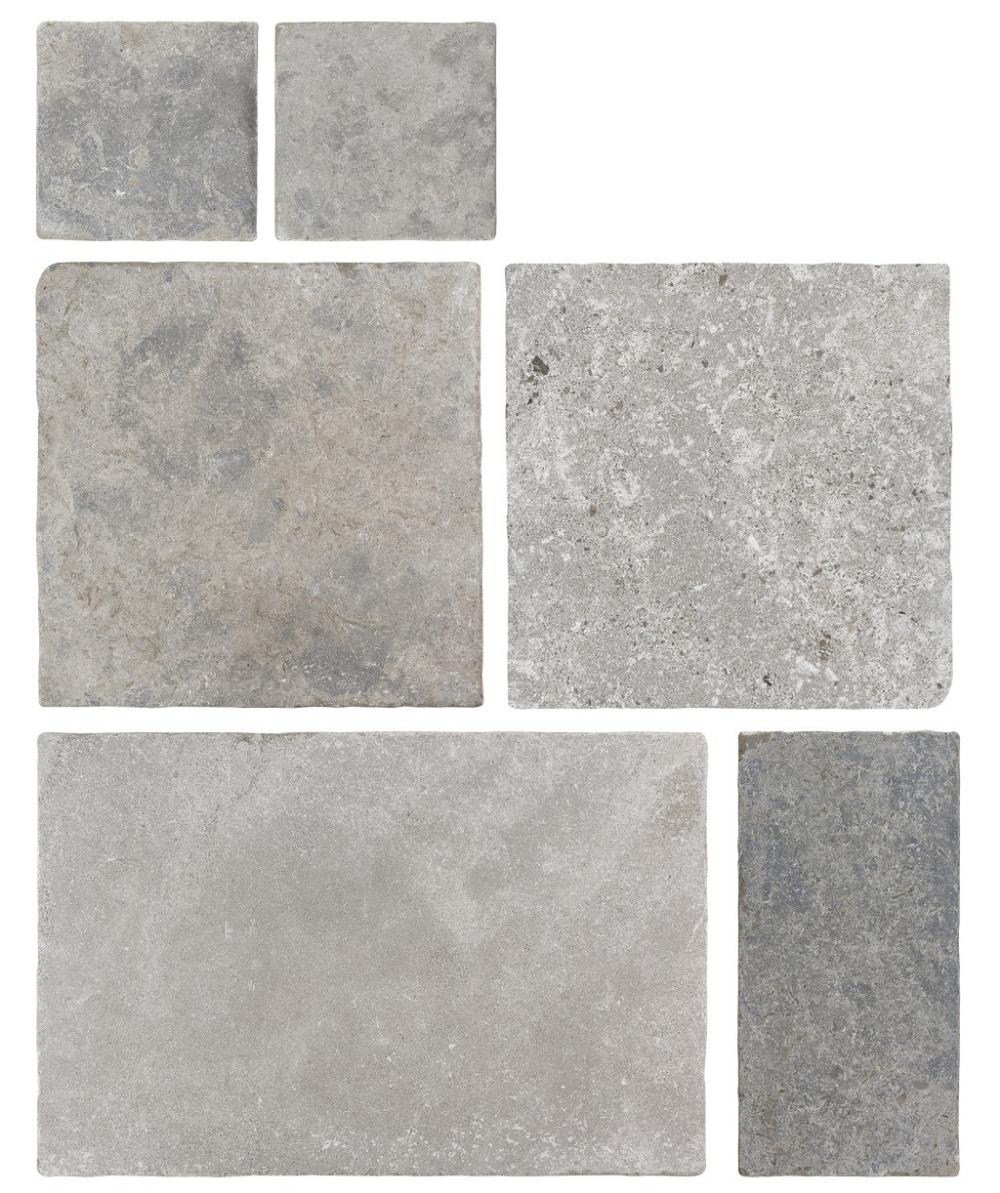 Amazone Grey Modular Tumbled Tile Modular Tile Rustic Tile Limestone Flooring