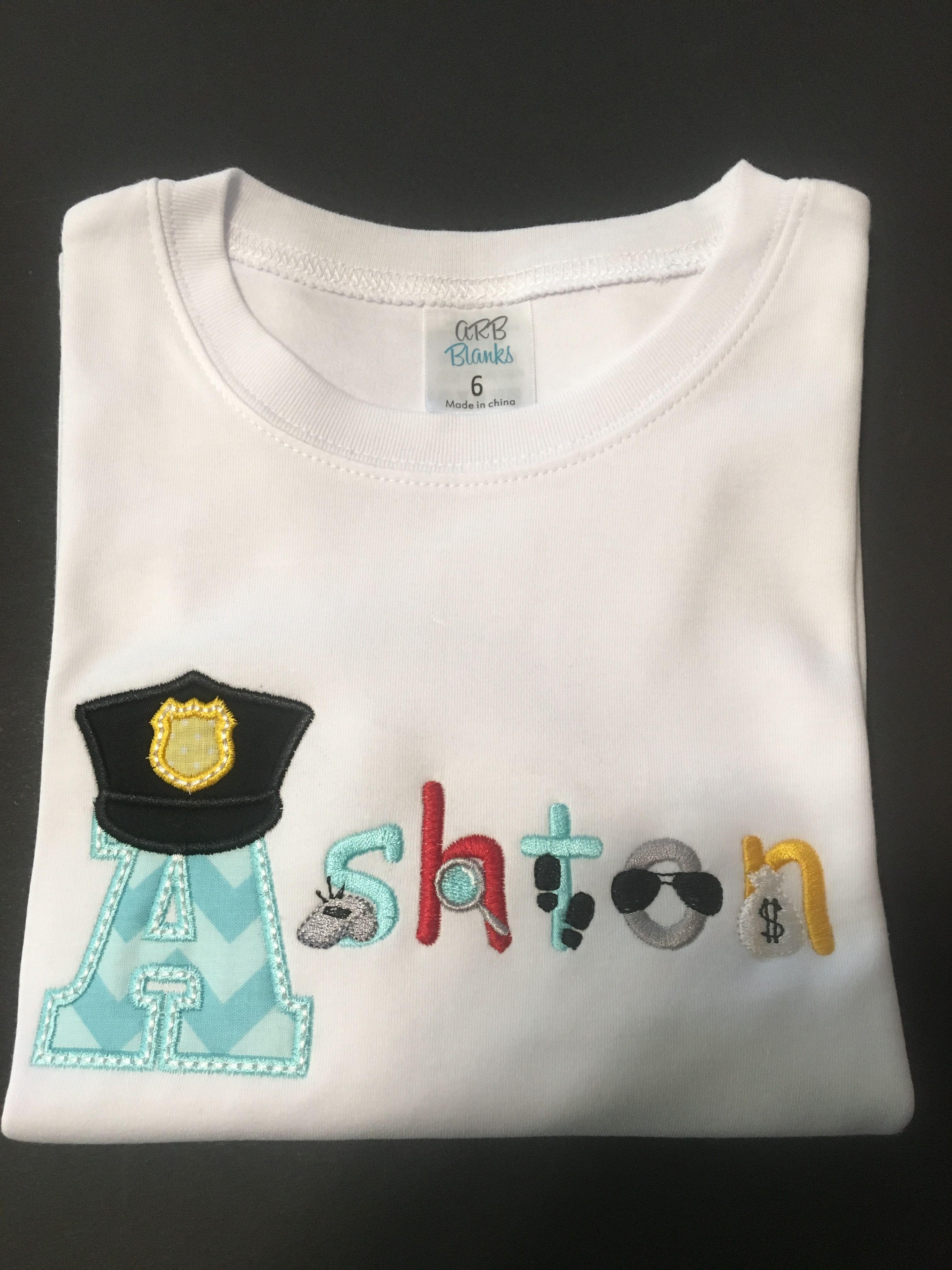 Personalized Police Theme Shirt www etsy com/shop
