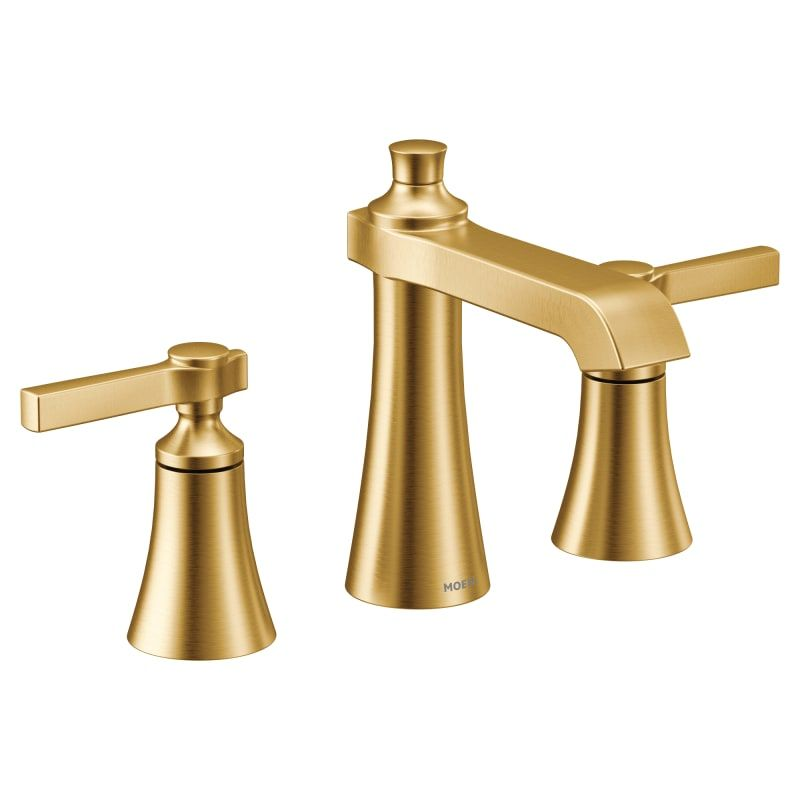 Moen Ts6984bg Flara 1 2 Gpm Widespread Bathroom Build Com Widespread Bathroom Faucet Bathroom Faucets Bathroom Sink Faucets Moen brass bathroom faucet