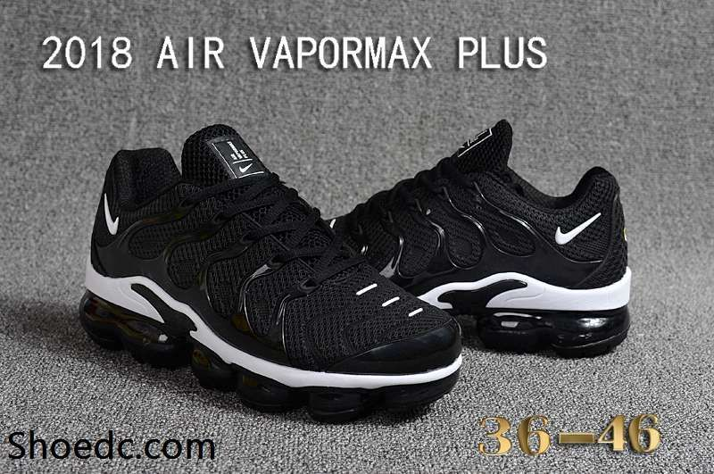 promo code 997b0 7828c Nike Air Max Tn 2018 Vapormax Plus Black White Women Men