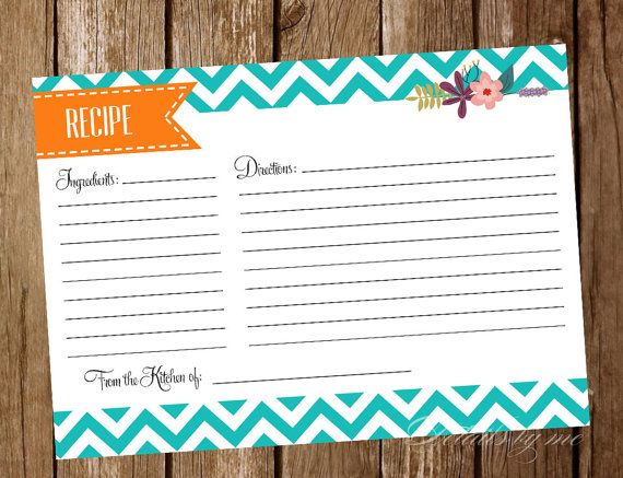 Something Borrowed! Recipe Card  Bridal Shower Games  Tiffany Blue  by DetailsbyMe
