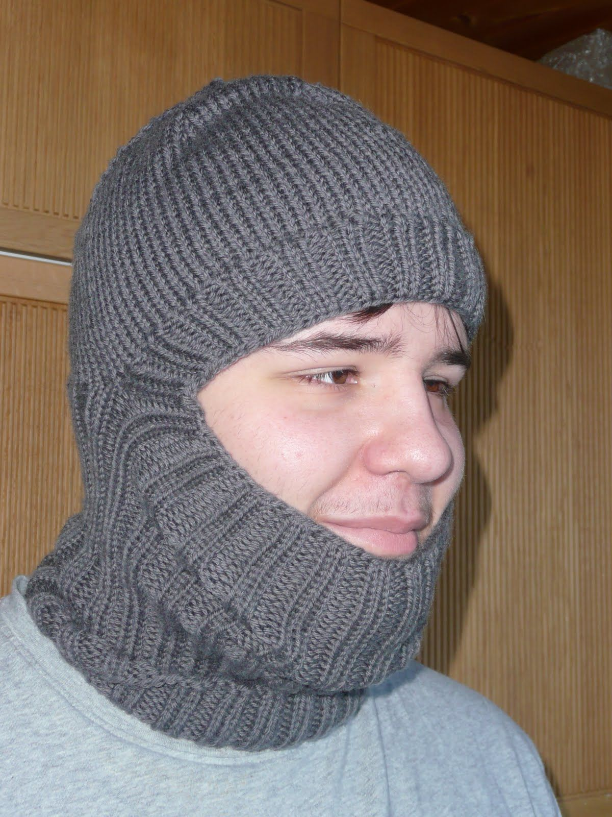 easy balaclava hat knitting pattern - Google Search | clothes ...