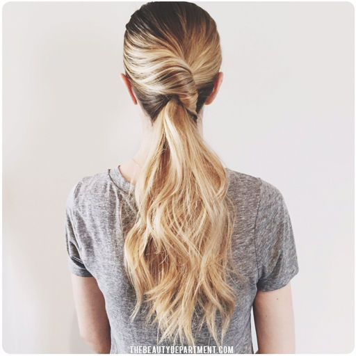 Simple Long Hair Wedding Style For Mother Of Groom In Her 60 S: Twist Ponytail, Hair Styles, Ponytail