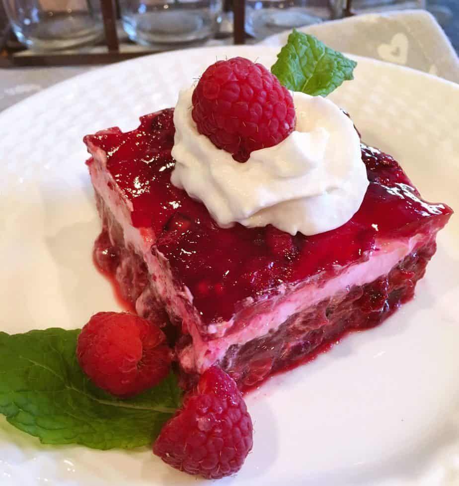 Raspberry Layered Jello Salad Norine S Nest Recipe In 2020 Layered Jello Jello Salad Baked Dishes