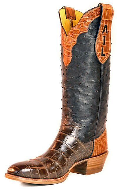 Custom cowboy boots, Leather