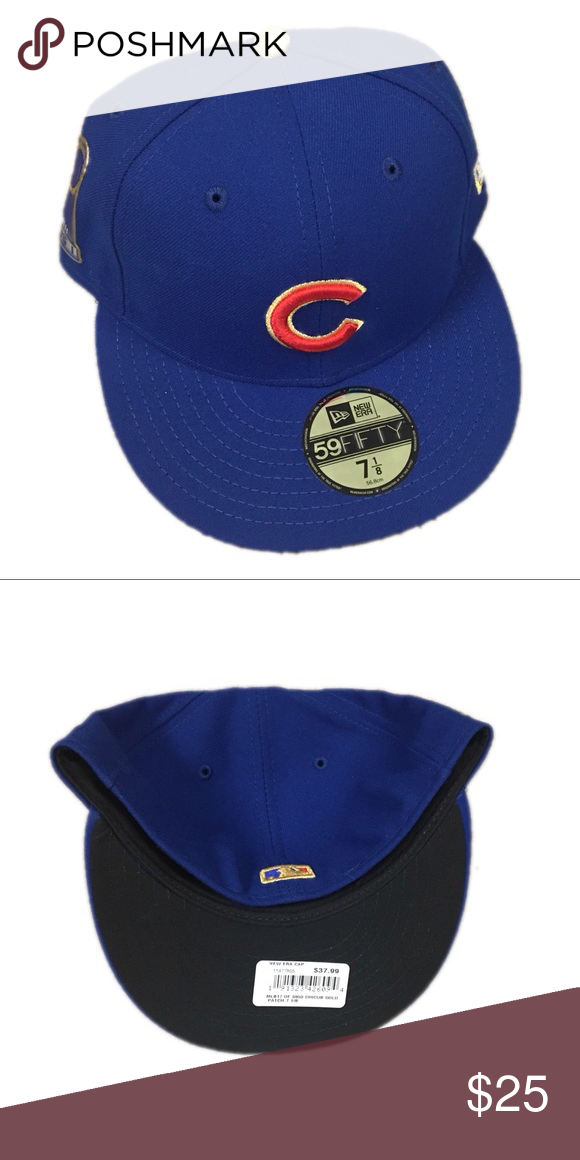 5b3b361cfa7 Chicago Cubs New Era World Series Hat Cap 7 1 8 Brand new with tags  officially licensed Chicago Cubs New Era World Series Fitted Hat Cap Size 7  1 8 New Era ...