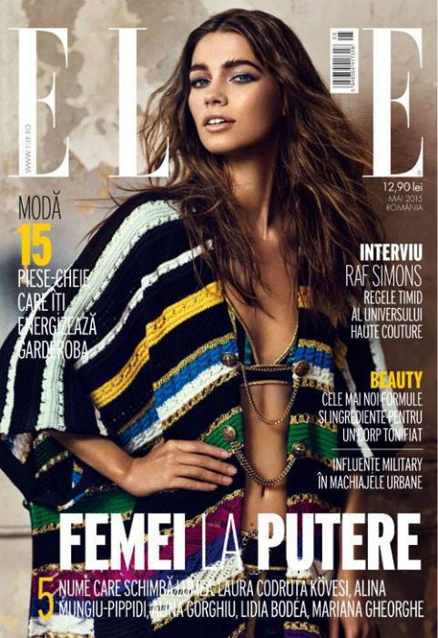 In The Spirit Of Rock N Roll Elle Romania May 2015 Fashion Magazine Cover Magazine Design Cover Fashion Cover