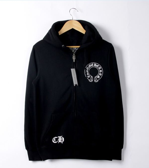 ff7cad1b3209 Authentic Chrome Hearts 2016 Horseshoes Black Hoodie Jacket with Multi  Cross Back