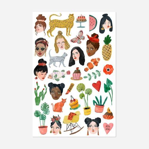 Mixed Sticker Sheet