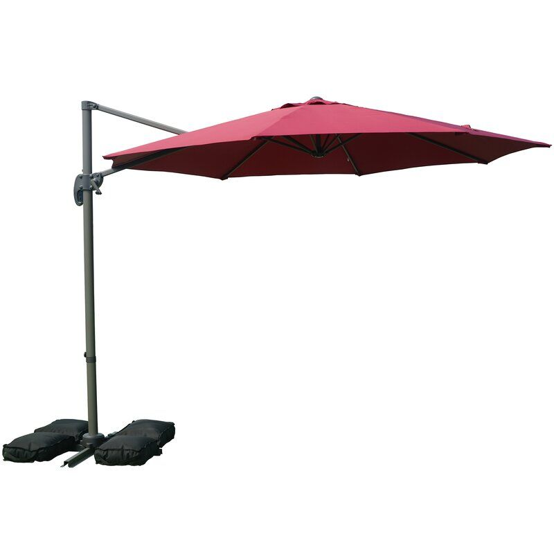 Tottenham Patio Hanging Offset 10 Cantilever Umbrella In 2020 Cantilever Umbrella Patio Umbrella
