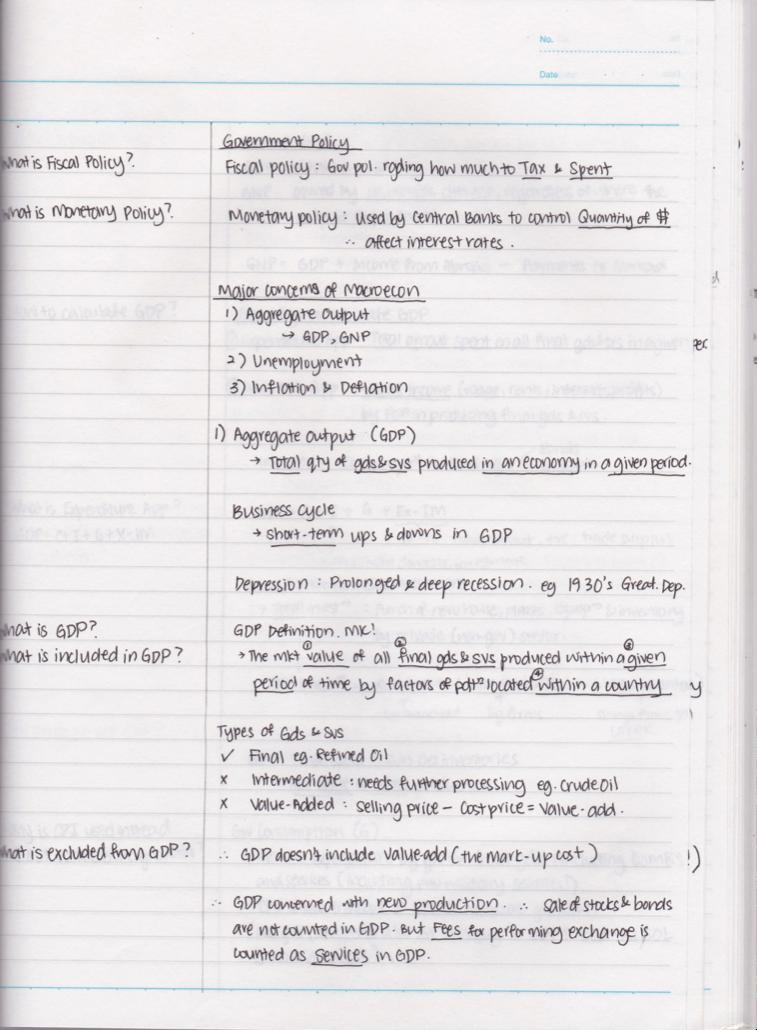 Macroeconomics notes | Economics notes, Economics lessons, Economy ...