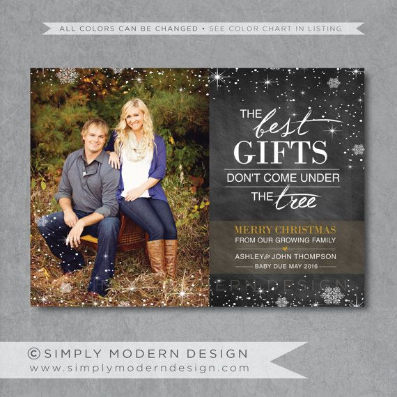 christmas card pregnancy announcement chalkboard best gifts don t