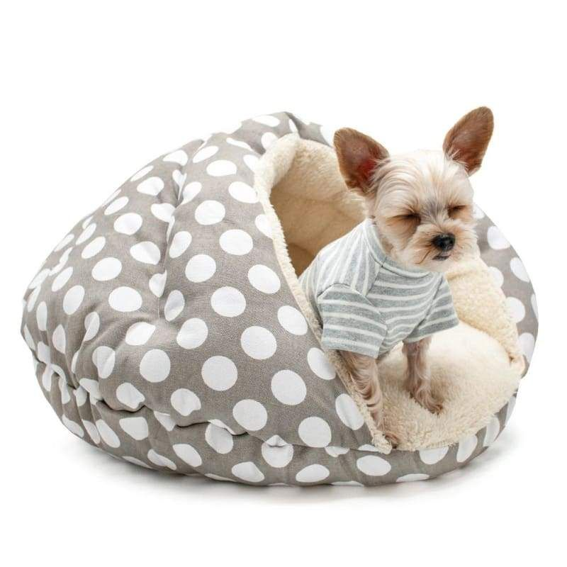 Astonishing Burger Bed Polka Dot Covered Dog Bed Dog Beds Dog Beds Customarchery Wood Chair Design Ideas Customarcherynet