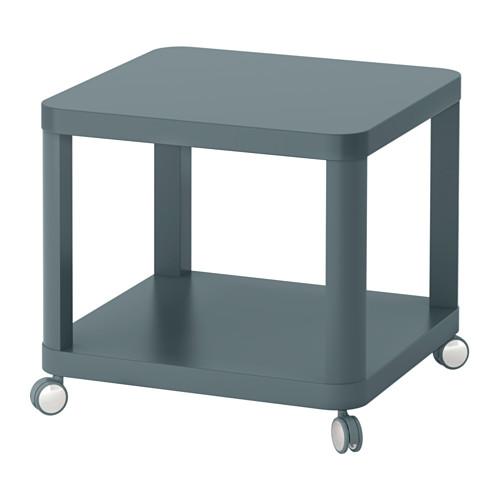 TINGBY Bijtafel op wielen - turkoois - IKEA