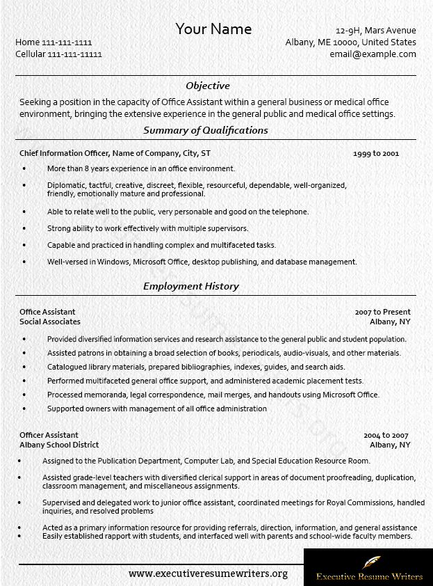 Executive #Assistant #Resume #Example #Executive #Resume - computer lab attendant sample resume