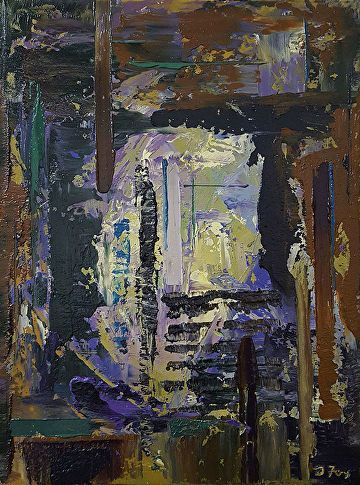 """Archive Entrance by Donald Fox Oil ~ 16"""" x 12"""""""