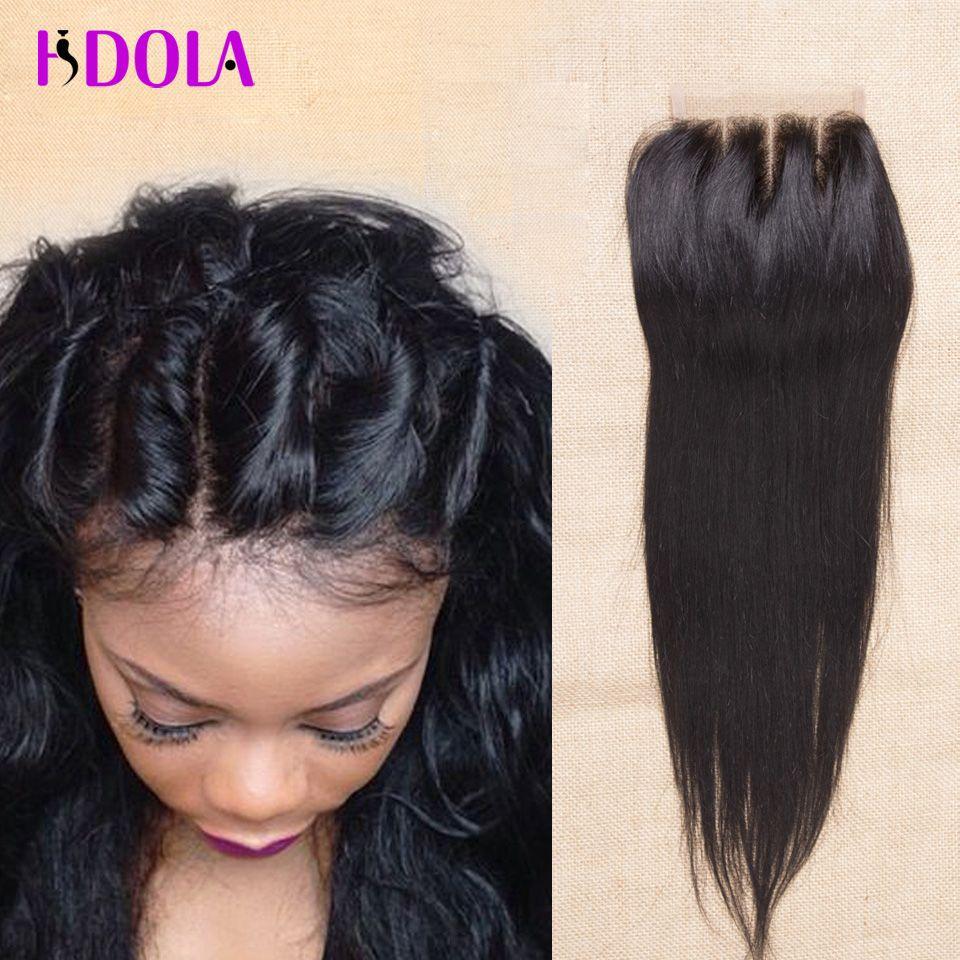 Where to buy hair closures - Brazilian Virgin Hair Closures Top Brazillian Straight Lace Closure Bleached Knots Clousure 3 Free Part Human Hair Cheap Hair