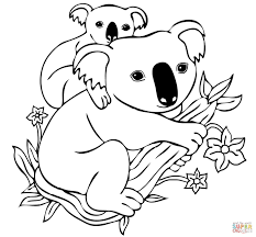 Resultado De Imagen Para Koala Y Su Cria Vector Bear Coloring Pages Monkey Coloring Pages Animal Coloring Pages