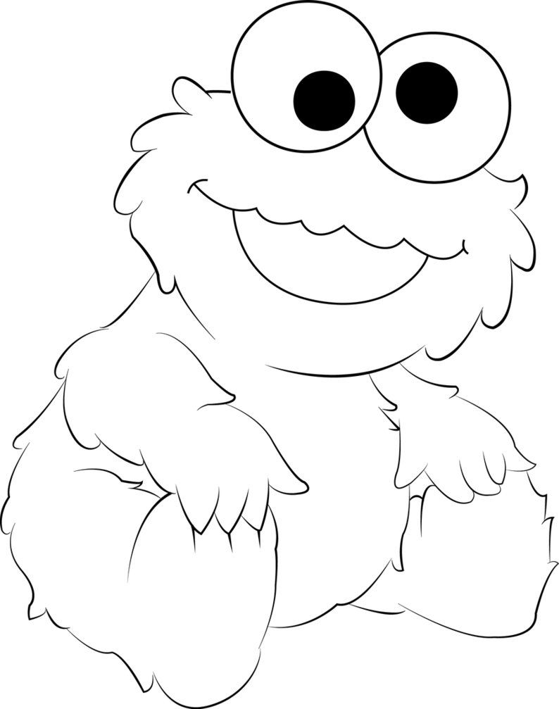 Cookie monster | Monster coloring pages, Cookie monster ...