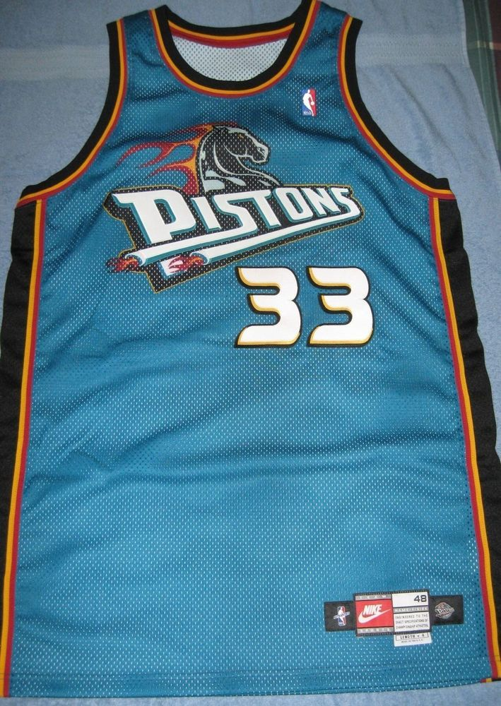 grant hill game worn 1998-99  Detroit pistons jersey nike 484 pro-cut used  from  799.99 bea40fed7