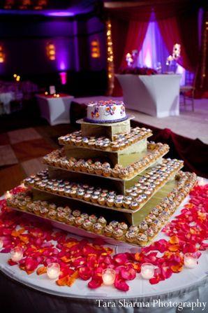 Wedding Cake Indian Reception Dessert