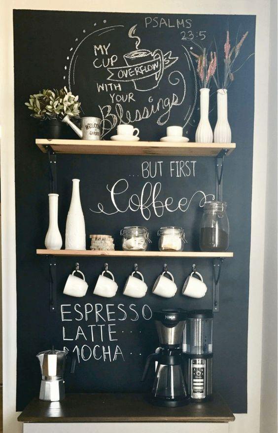 Photo of Idee per la decorazione della parete della cucina del pannello – Lavagna Kitche…