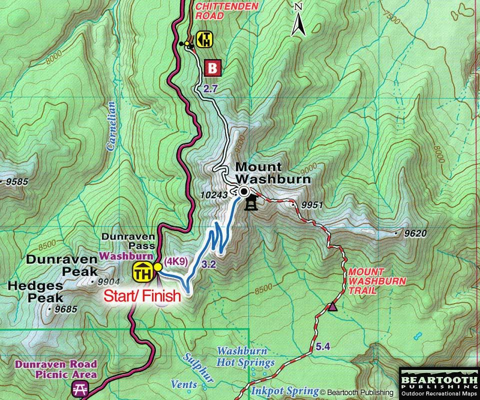 Mt washburn trail favorite places yellowstone pinterest hiking the mount washburn trail yellowstone national park trail guides yellowstone sciox Image collections
