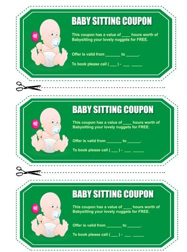 Babysitting Coupon Book Template 14 | Babysitting Coupon Book