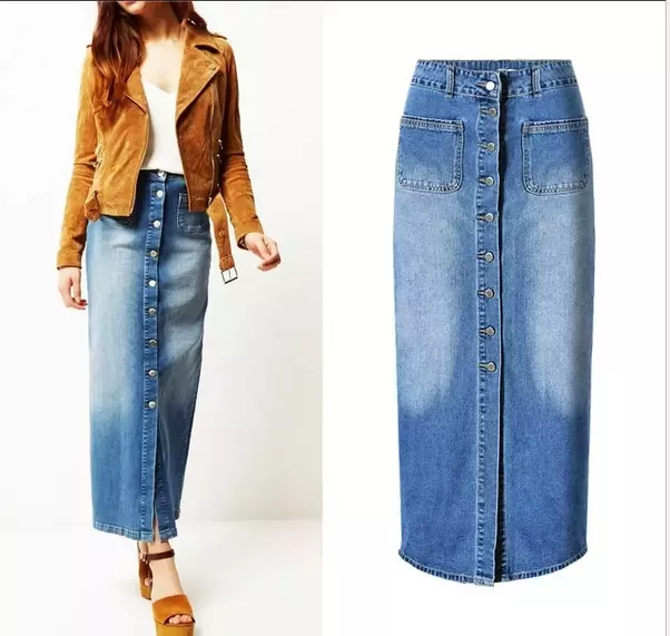 7a0da1815c47a6 Image result for how to wear long denim skirts. Image result for how to  wear long denim skirts Long Denim Skirt ...