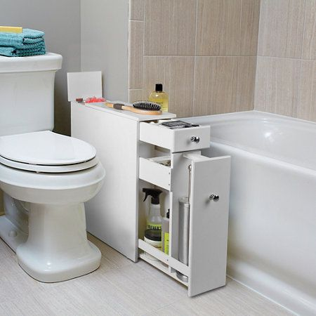 the tiny home would definitely want this  bainbridge slim bathroom floor cabinets white gloss homebase bathroom white cabinets dark floor