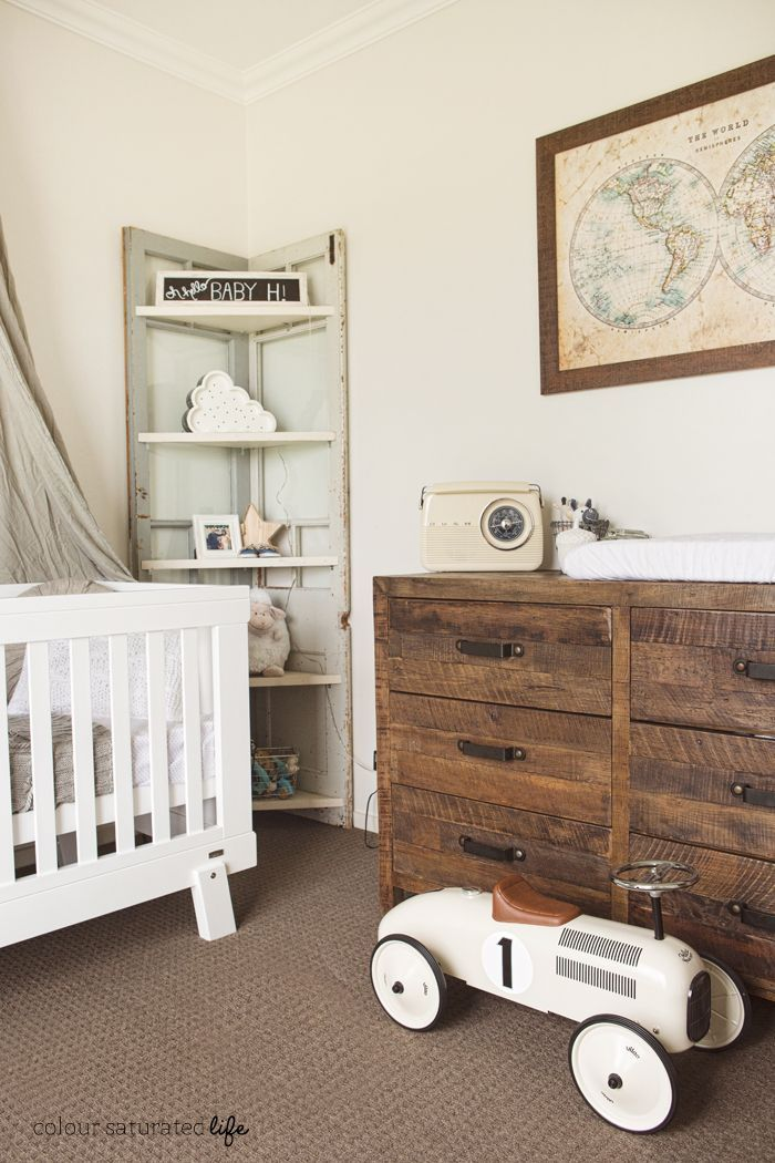 colour saturated life vintage industrial nursery baby room idea 39 s pinterest industrial. Black Bedroom Furniture Sets. Home Design Ideas
