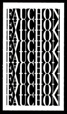 Cartes De Visite Fauchon Typographie Gastronomie Affiches Monde Noir Emballage Alimentaire Packaging