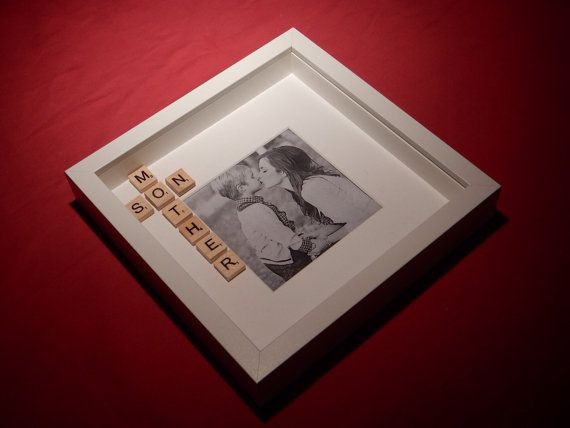 Mother And Son Scrabble Art Picture Photo Frame By Abstyleart