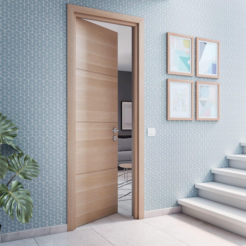 Porte D Entrée En Bois Massif Prix bloc-porte bois madrid 2 h.220 x l.93 cm, poussant gauche en