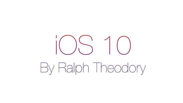 Nuevo concepto sobre el iOS 10 [VIDEO]