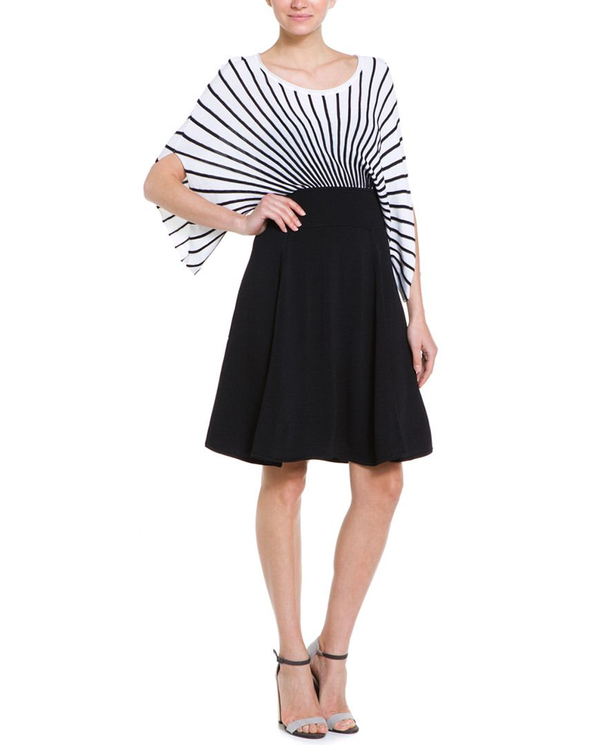 Catherine Malandrino Darla Blanc & Noir Knit Dress