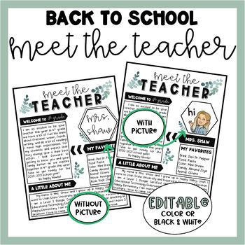 Meet the Teacher   Back to School Night   Editable Template   3 Farmhouse Styles