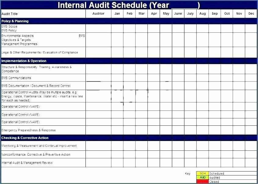 Fresh Internal Audit Schedule Template In 2020 Schedule Template