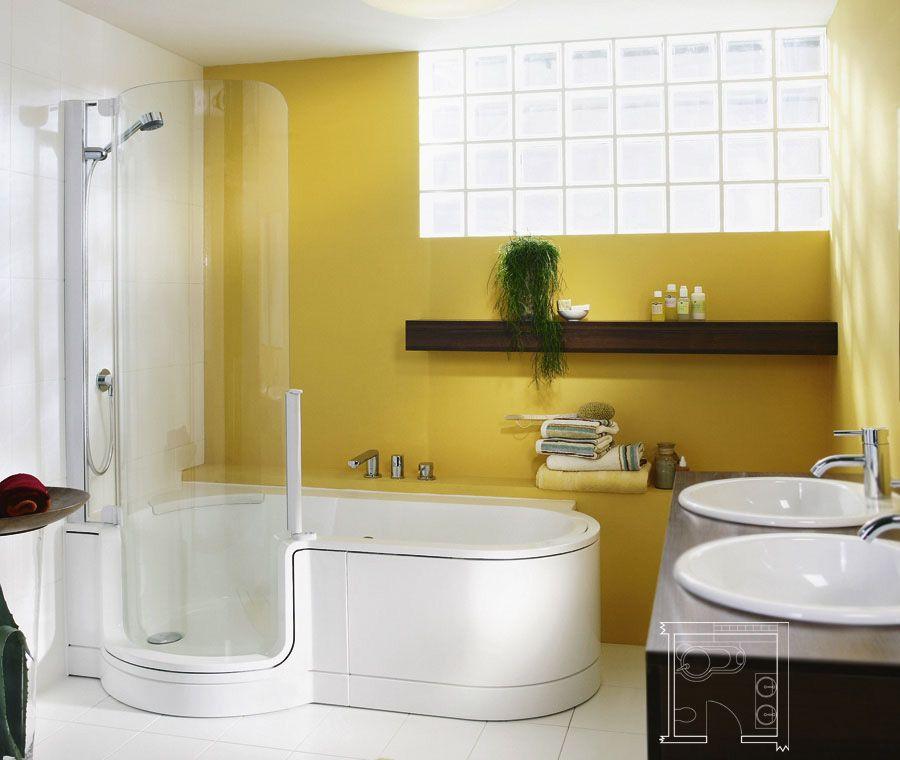 Ba os modernos peque os con ducha y tina buscar con - Banos pequenos modernos y funcional ...