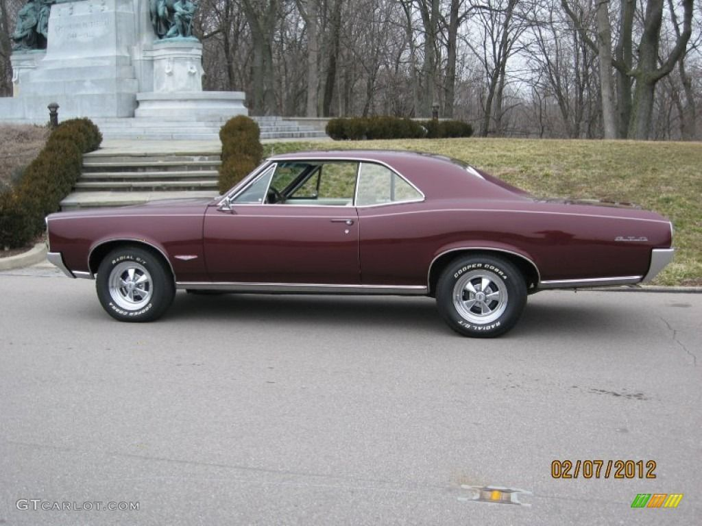 1966 Pontiac Gto Hardtop Burgundy Color 1965 Phs Documented 4 Speed Tri Power 389 Red Black Parchment Interior