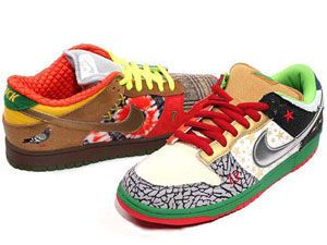 the latest 5ed29 b8d22 Nike SB What The Dunk Dunks Shoes Colorful