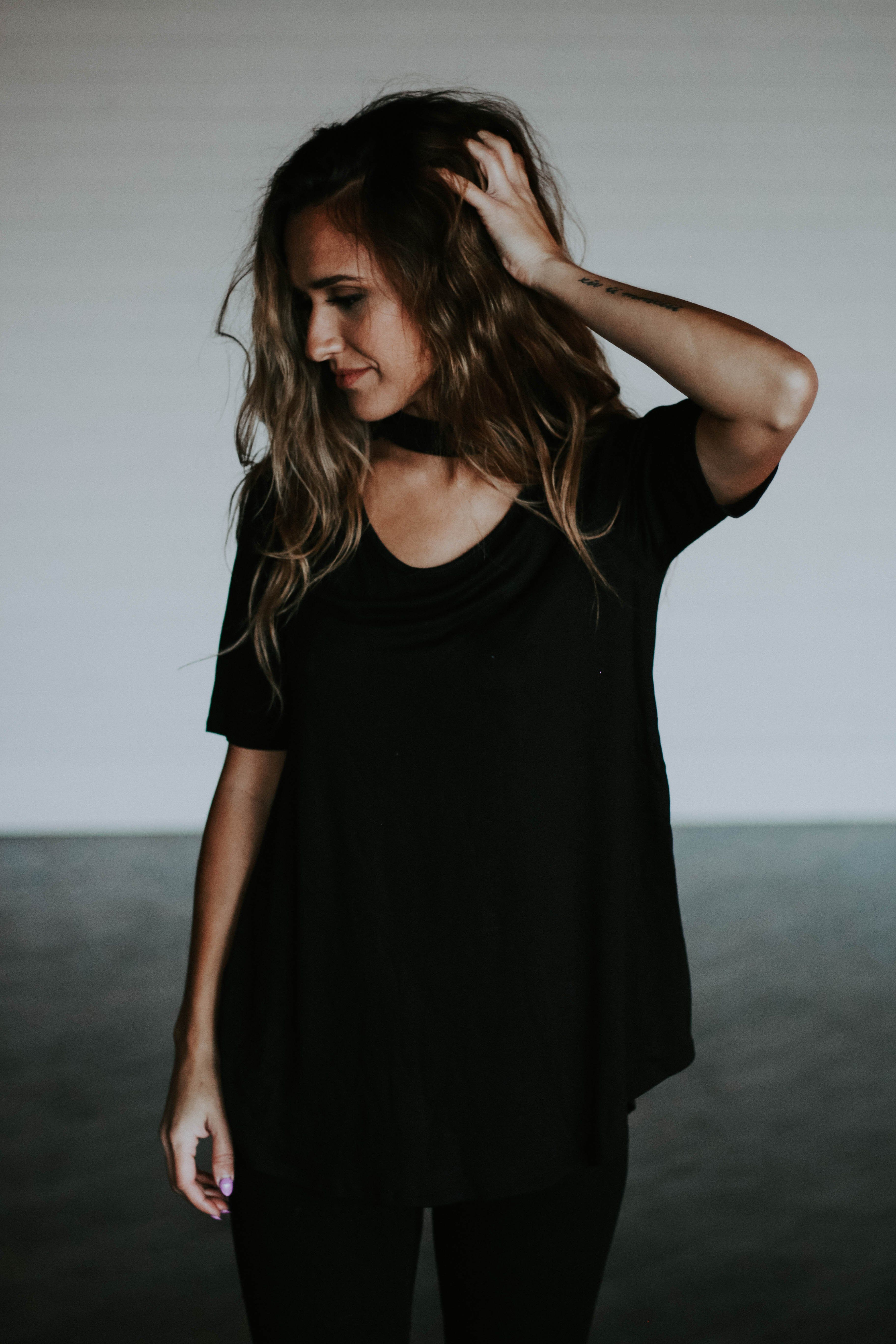 The Layla Top in Black Women s Top with Choker Neck f3525f02d
