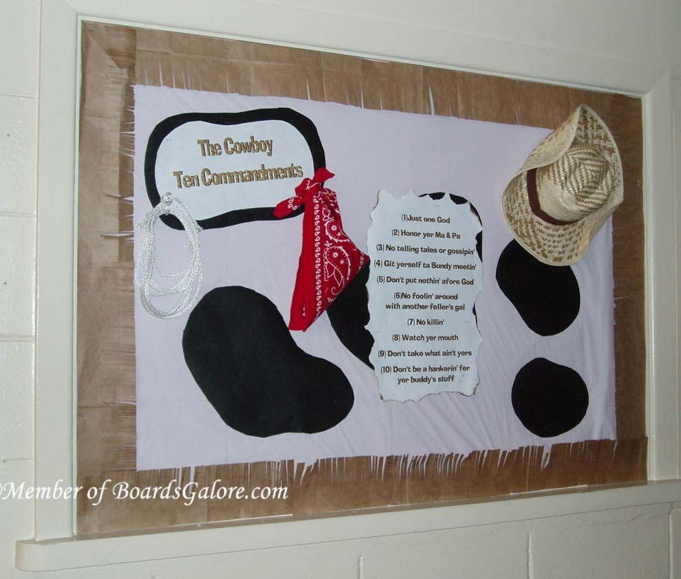 Bulletin board idea western party pinterest - Tablones de anuncios ...