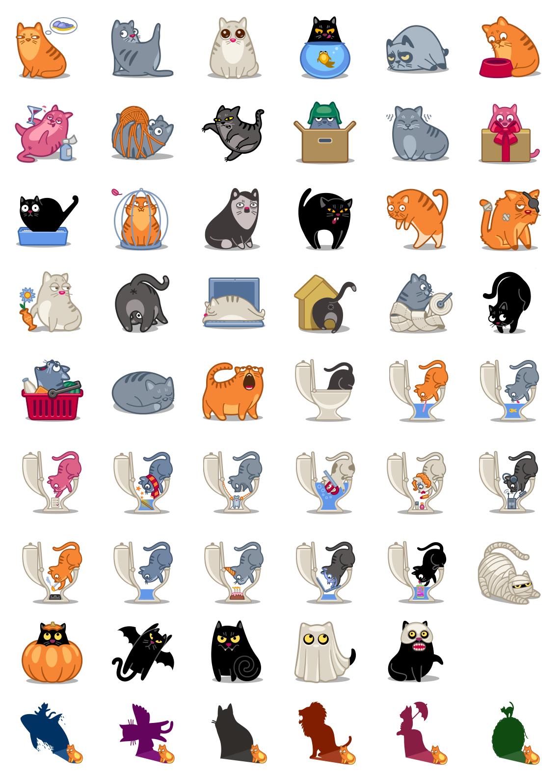 Картинки для значков котик
